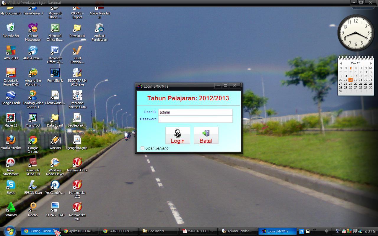 Panduan Aplikasi dapat diperoleh di : http://syarifbinamu.wordpress