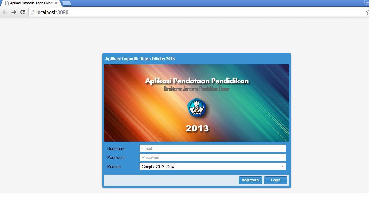 Panduan aplikasi Dapodikdas 2013 klik di sini !